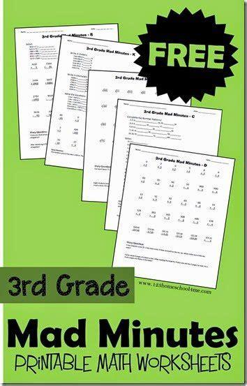 free printable mad minutes math worksheets