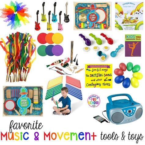 Music and movement activities let preschoolers explore music through movement. Favorite Music and Movement Tools and Toys | Kindergarten toy, Movement preschool, Music and ...