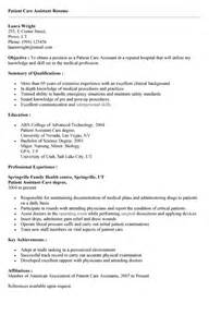 Patient Services Assistant Resume by Patient Care Assistant Cover Letter Sle Livecareer Cover Letter Sle Patient Care