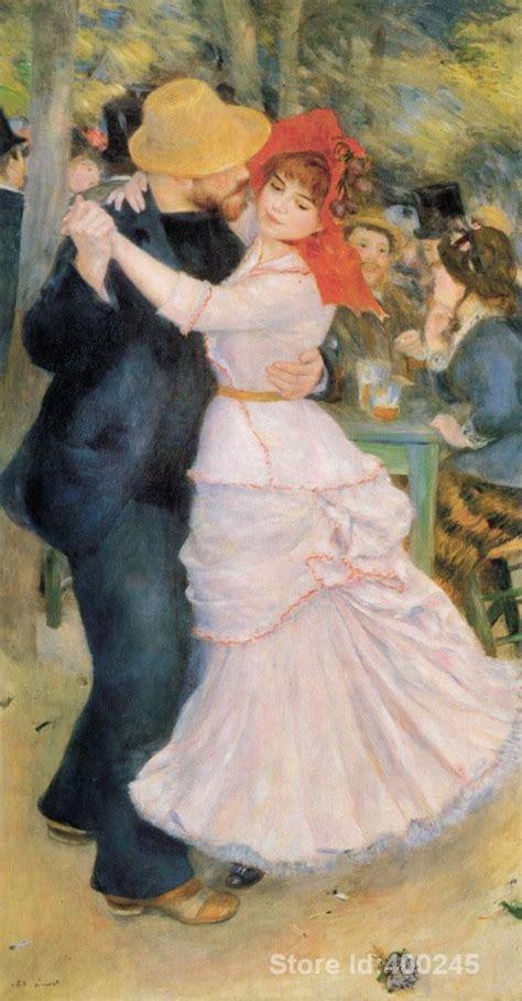 Art Oil Paintings Dance At Bougival Original Pierre