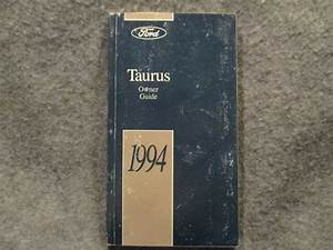 1994 Ford Taurus Owner Owners Users Manual Guide Reference