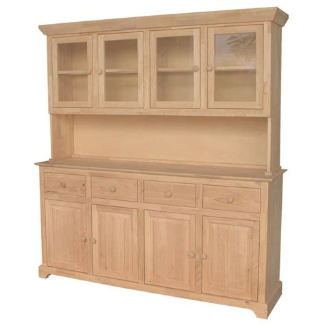 kitchen buffet hutch traditional wood buffet and hutch 4 doors free shipping