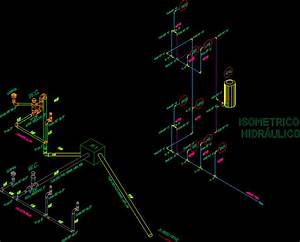Sanitary Plumbing  Water And Drainage  Isometric Dwg Block
