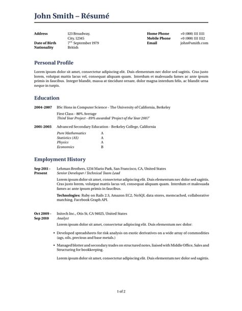 What S The Difference Resume And Cv by 100 What S The Difference Between Resume And Cv How To