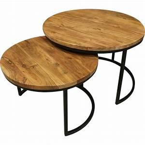 Table Basse Bois Metal : tables basses gigognes bois et metal ~ Teatrodelosmanantiales.com Idées de Décoration