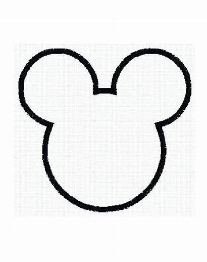 Mickey Mouse Outline Minnie Ears Tattoo Face