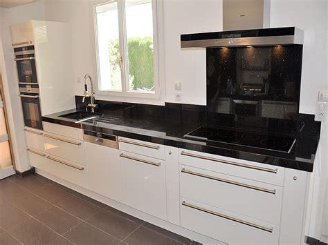 plan de travail cuisine granit noir les plans de travail créer sa cuisine