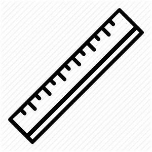 Centimeters, cm, inches, measure, office, ruler icon ...