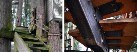 metal fab fortifies tv treehouses