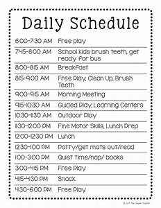 27 images of home daycare schedule template infovianet With child care daily routine template