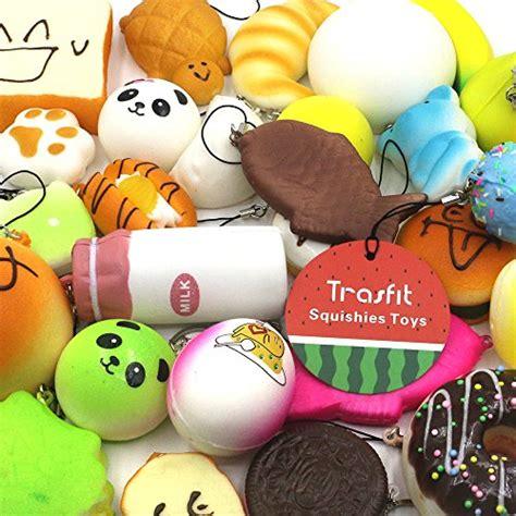 trasfit  pieces random squishy charms kawaii soft foods