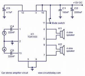 Car Stereo Amplifier Circuit