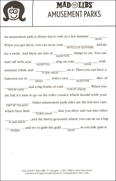 8 Best Images Of Blank Printable Mad Libs Dirty  Blank Printable Mad Libs, Funny Printable Mad