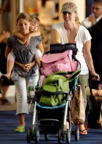 gogo kids travelmate jennie garth and daughters at airport babies