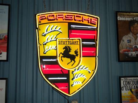 porsche dealer neon sign      garage
