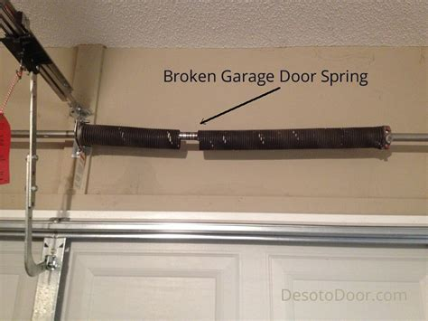 how to install garage door springs garage door repair at home after door springs failed desoto door