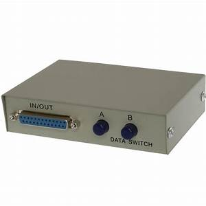 2 Way Db25 Manual Data Switch Box