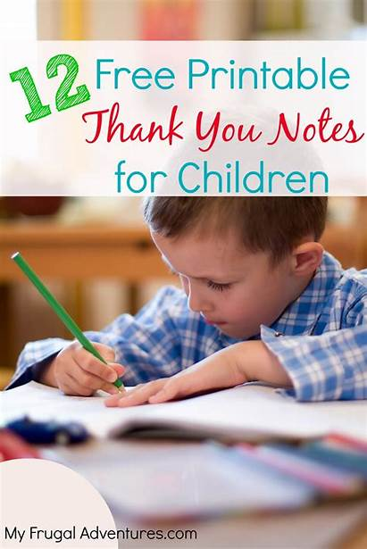Thank Printable Notes Cards Printables Children Card