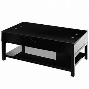 Table Basse Noir Laqué : table basse acto 110cm noir laqu ~ Teatrodelosmanantiales.com Idées de Décoration