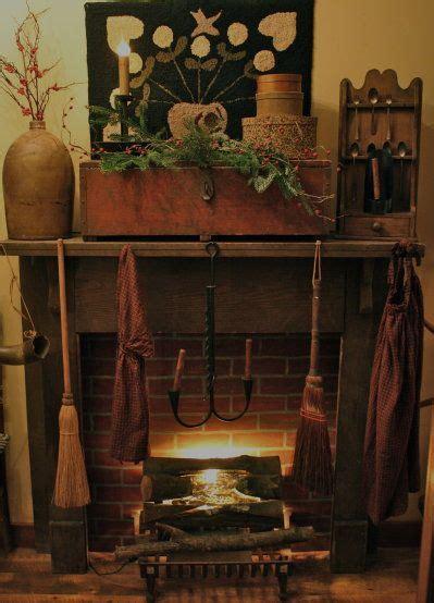 primitive fireplaces images  pinterest