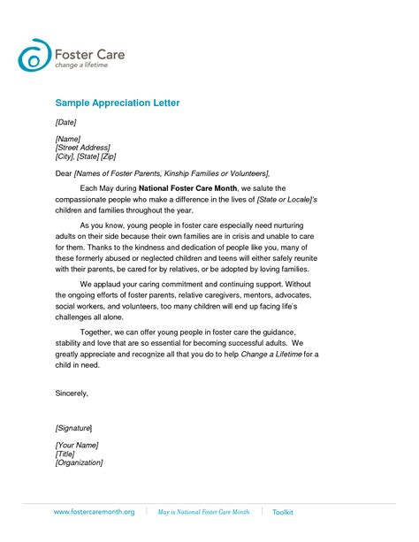 business writing examples letters appreciation