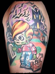 Halloween Body Tattoo Designs