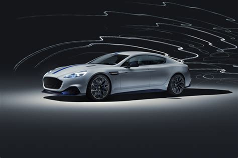 aston martin rapide  track ready electric car shown