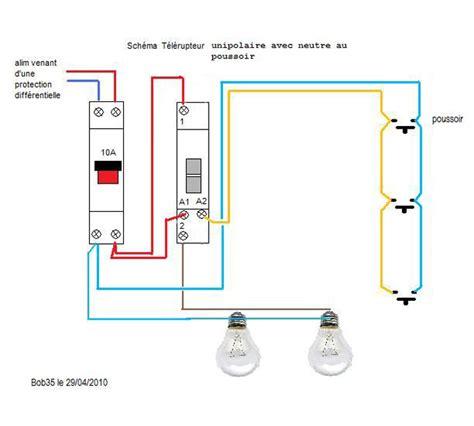 schema electrique bouton poussoir legrand