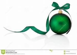 Boule De Noel Verte : boule verte de no l avec l 39 arc de ruban d 39 isolement sur le fond blanc photo stock image 47045345 ~ Teatrodelosmanantiales.com Idées de Décoration