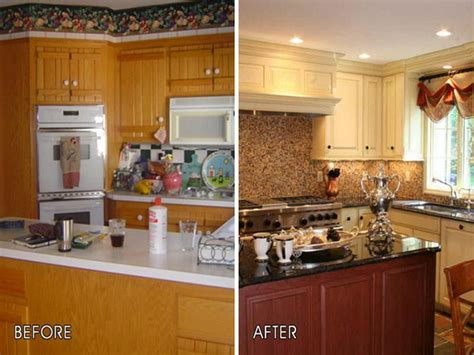before and after small kitchen makeovers diy kitchen cabinet makeover ideas all about house design 9090