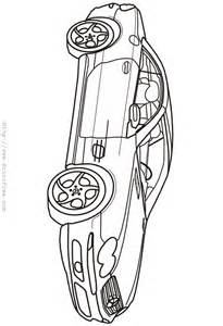 Sports Car Outline Coloring Pages