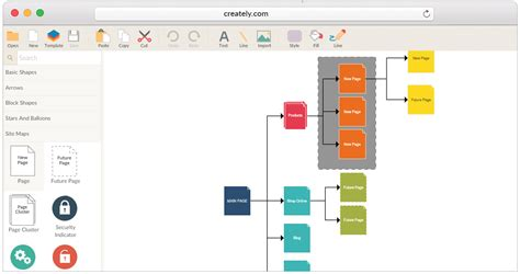 Tools To Create Website Templates website sitemap creator to visualize website structure