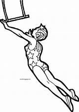 Coloring Rope Jump Circus sketch template