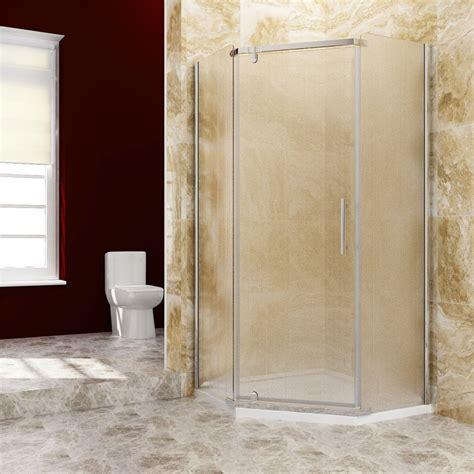 neoangle frameless shower door corner shower enclosure