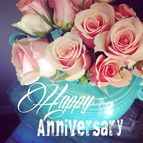happy anniversary flowers   beautiful card