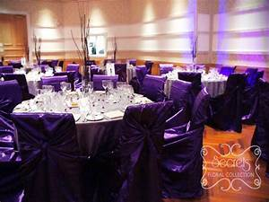 Used Reception Chairs Royal Purple And Silver Wedding