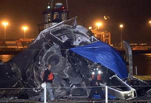 SpaceX rocket wreckage back on shore after near-miss at ...