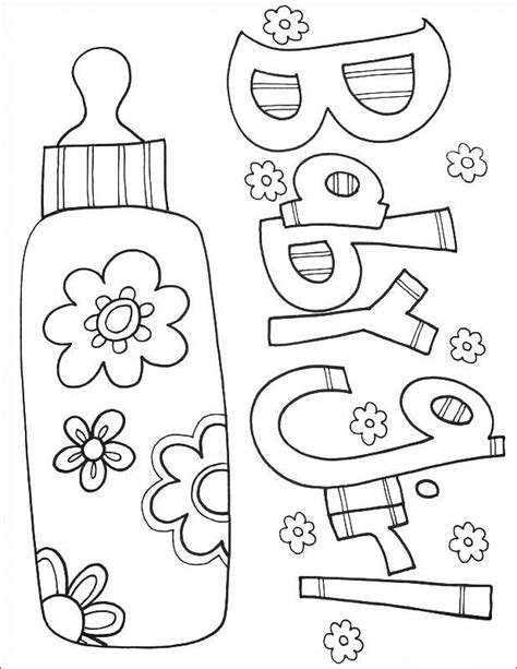 Free Printable Baby Coloring Pages For Kids Baby
