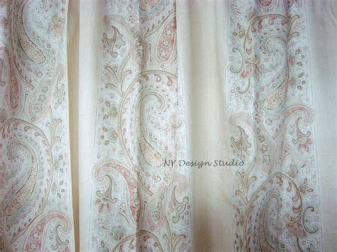 Window 2 Drapes Panel Curtains New Ralph Lauren Romantic Traveller Ivory Paisley Curtain Tracking Systems 96 Tension Rod Noise Deadening Curtains Restaurant Air Bedroom Ideas One Fish Two Shower Childrens Rails Charcoal Panels