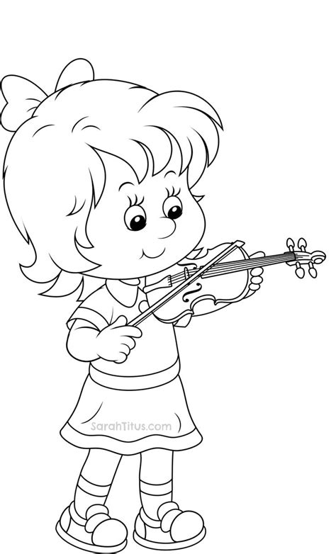 violin coloring pages  printable coloring pages  coloringonlycom