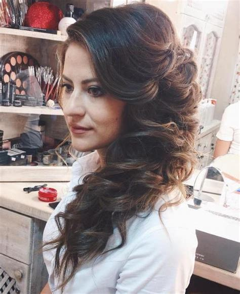 hair curled to the side styles 45 side hairstyles for prom to any taste