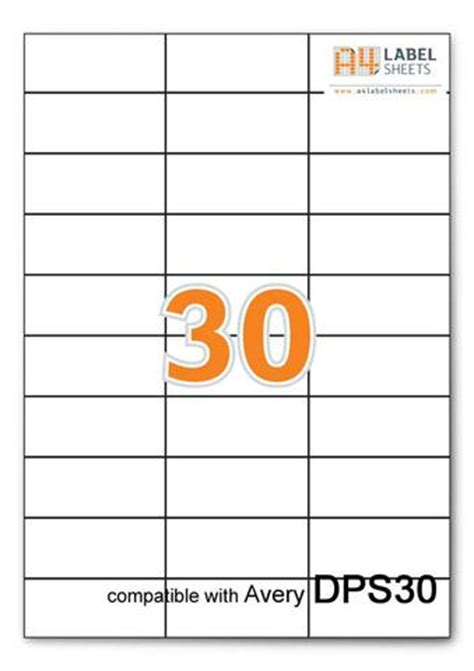 avery 30 label template avery dps30 compatible self adhesive labels x30 labels per sheet ebay