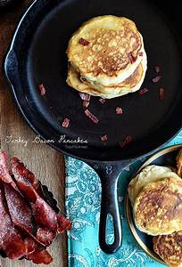 Bacon Pancakes With Cranberry Maple Syrup