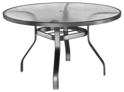 round glass top outdoor table homecrest glass top 48 in round patio dining table