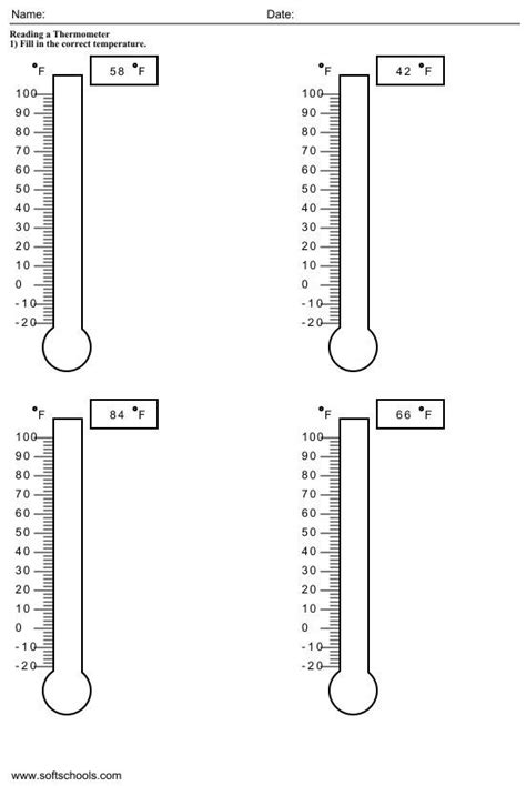 temperature worksheets for 2nd grade 1 homeschool 1st