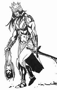 warrior carrying head by aaronius85 on DeviantArt