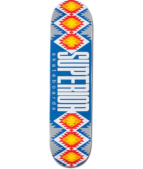 Cheap Skateboard Decks 75 by Superior Blue Mexi Blanket 7 75 Quot Skateboard Deck At Zumiez