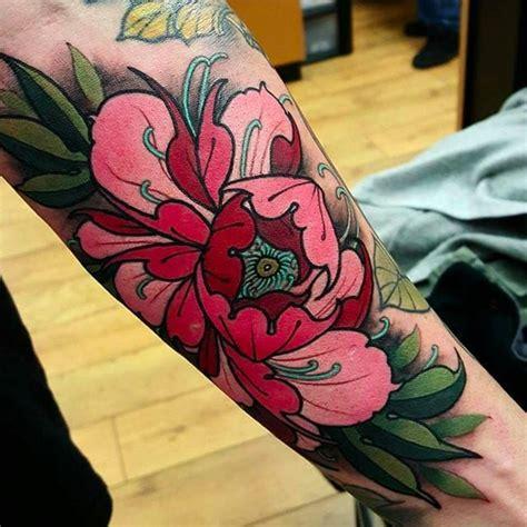 japanese peony flower tattoo design  sleeve
