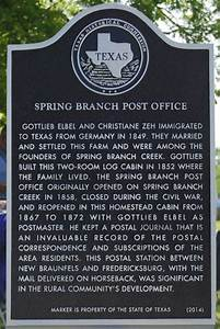 Family Budjet Comal County Historical Commission Spring Branch Post Office