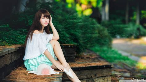 cute asian girl photography summer  hd desktop wallpaper